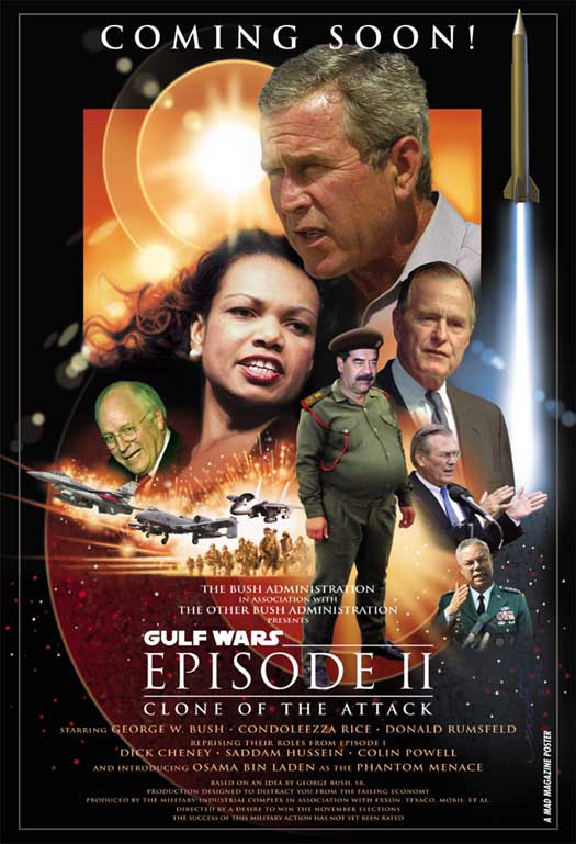 Ironic caricature of a StarWars-poster